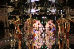 mirrored installation with video